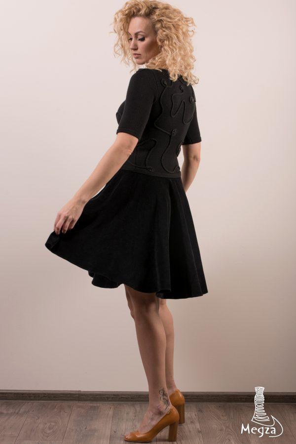 MGZ-273 juoda suknele, Megza sukneliu namai, juoda progine suknele, megzta suknele, prabangi suknele, juoda suknele, klasikine suknele, black dress, black dresses 12