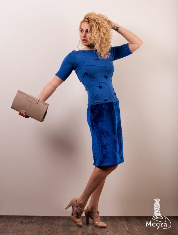 MGZ-207 Melyna megzta suknele, Megza, Megza sukneliu namai, prabangi suknele, oficiali suknele, neoprenine suknele, vakarine suknele, sventine suknele, klasikine suknele, rubai 1